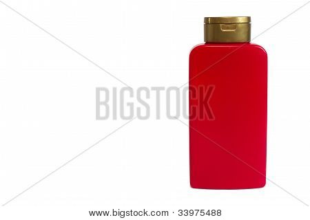 Cosmetic Bottle Isolated On Wtite Background