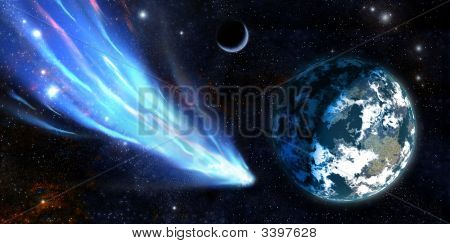 Earth And A Comet
