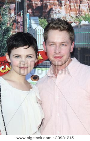 ANAHEIM - JUN 13:  Ginnifer Goodwin, Josh Dallas arrives at the