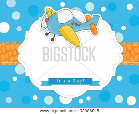 Colorful baby boy shower invitation card