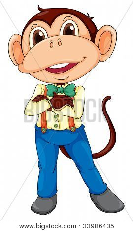 Illustration of a monkey in business clothes - EPS VECTOR format also available in my portfolio.