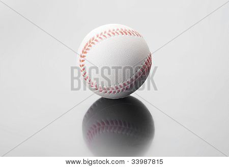 Golf ball lon grey background
