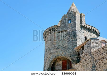 Tower Of Medieval Castle In Vitre, France