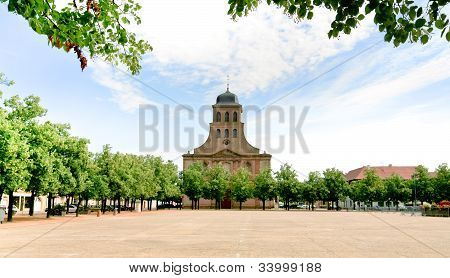 Church In Neuf-brisach City, France