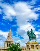 Fishermans Bastion, Located In The Buda Castle Complex, In Budapest, Hungary. poster