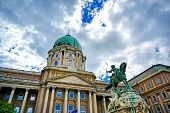 The Exterior Of Buda Castle Located In Budapest, Hungary. poster