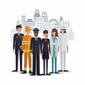 Professional Avatars People Design, Working Occupation Person Job Corporate Employee And Service The poster