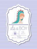 Baby Shower And Baby Boy Design, Invitation Party Card Decoration Love Celebration Arrival And Born  poster