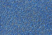 Abstract Blue Background Paving Consisting Of Small Pebbles Embedded In Cement Exterior Floor Or Roa poster