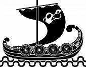 Постер, плакат: Древний корабль викингов
