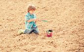 Earth Day. Eco Life. Summer Farm. Ecology Life. Eco Farm. Human And Nature. Happy Child Seeding On R poster