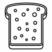 Tasty Toast Icon. Outline Tasty Toast Vector Icon For Web Design Isolated On White Background poster