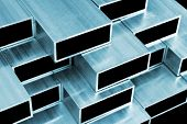 Aluminium Profile For Windows And Doors Manufacturing. Structural Metal Aluminium Shapes. Aluminium poster