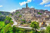 Matera Ancient Town I Sassi, Unesco World Heritage Site Landmark. Basilicata, Italy, Europe poster