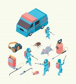 Pest Examination. Insects Dezinfection Service Chemical Poison For Pest Control Rodents Exterminatio poster