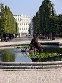 pic of schoenbrunn  - Vienna Austria - Schoenbrunn castle park with fountain  - JPG