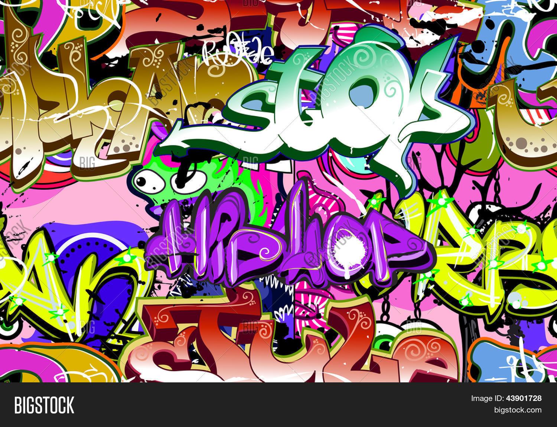 pared de graffiti fondo de arte urbano textura perfecta hip hop