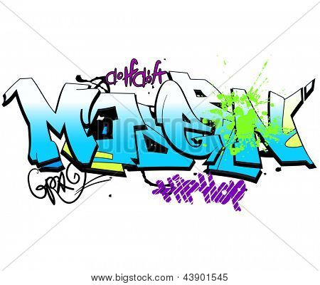 Graffiti background, urban art