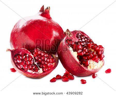 Pomegranate. Pomegranates isolated on a White Background. Organic Bio fruits