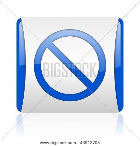 access denied blue square web glossy icon