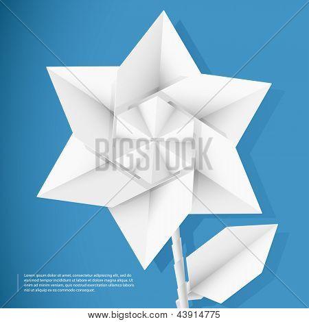 Paper star flower