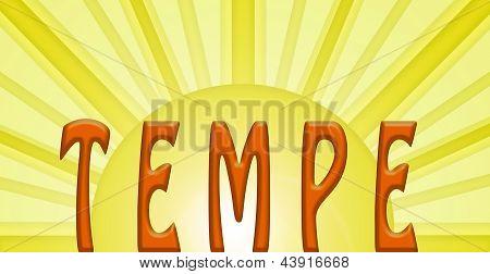 Orange Tempe With Sun