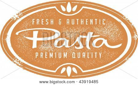 Vintage Style Fresh Pasta Menu Stamp