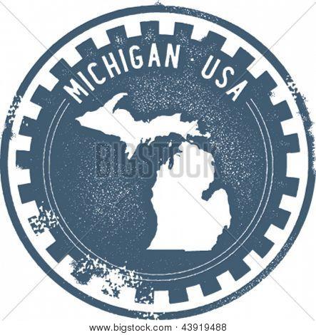 Selo vintage Michigan EUA Estado