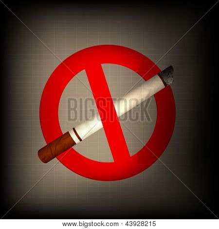 Anti smoking background.