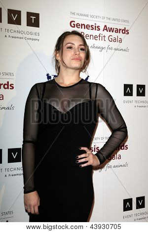 LOS ANGELES - MAR 23:  Sophie Simmons arrives at the 2013 Genesis Awards Benefit Gala at the Beverly Hilton Hotel on March 23, 2013 in Beverly Hills, CA