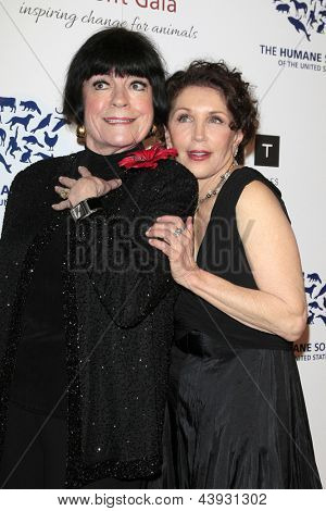 LOS ANGELES - MAR 23:  Jo Anne Worley, Beverly Kaskey arrives at the 2013 Genesis Awards Benefit Gala at the Beverly Hilton Hotel on March 23, 2013 in Beverly Hills, CA