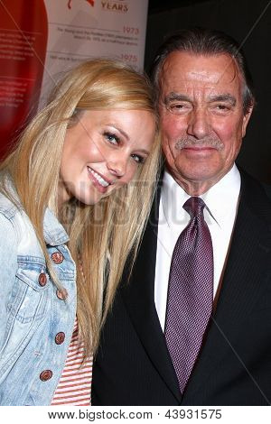 LOS ANGELES - MAR 26:  Melissa Ordway, Eric Braeden attends the 40th Anniversary of the Young and the Restless Celebration at the CBS Television City on March 26, 2013 in Los Angeles, CA