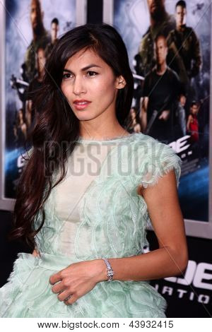 LOS ANGELES - MAR 28:  Elodie Yung arrives at the