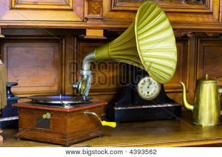 Antique Interior With Phonograph