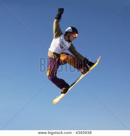 Fly Snowboard Man