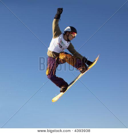 Fly Snowboard Man