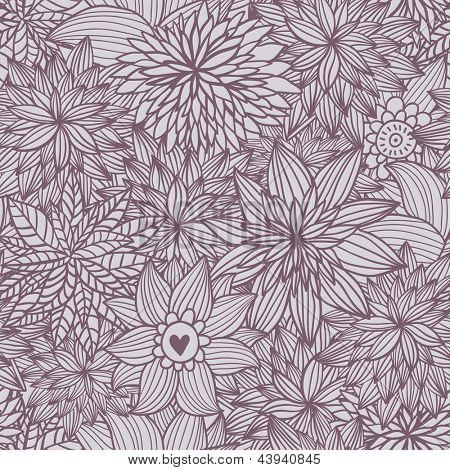 Floral seamless pattern. Vintage vector background made of flowers. Seamless pattern can be used for wallpapers, pattern fills, web page backgrounds, surface textures.