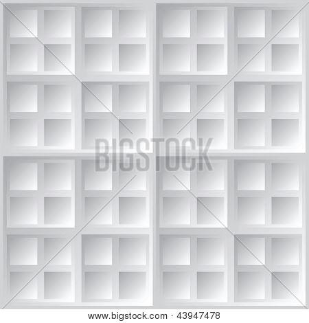 Abstrakt geometrische quadratisch grau Vektor