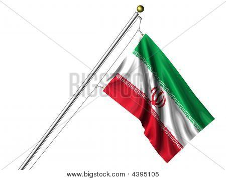 Isolated Iranian Flag