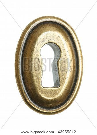 Keyhole On White Background.