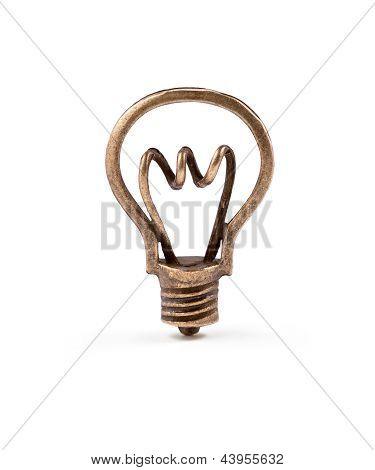 Bronze Light Bulb Symbol