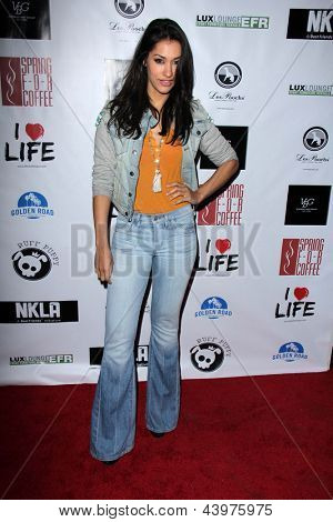 LOS ANGELES - APR 2:  Janina Gavankar arrives at  the No Kill L.A. Charity Event at the Fred Segal on April 2, 2013 in West Hollywood, CA