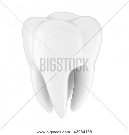 3d tooth on white background