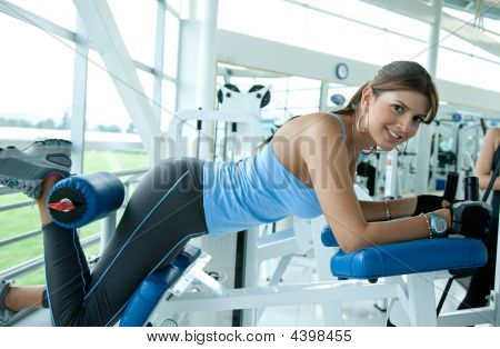 Beautiful Woman Exercising