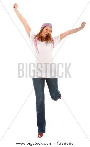 Happy Woman Full Of Success