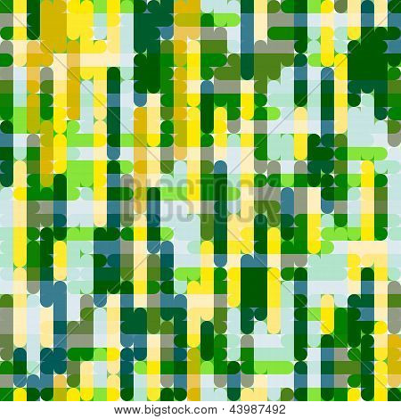 Yellow-green Grid Pattern