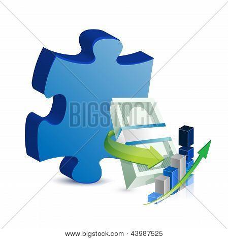 Business Missing Puzzle Piece Concept