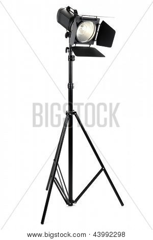 Studio lighting isolated on white