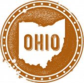 Vintage Ohio USA State Stamp