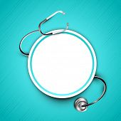 foto of diagnostic medical tool  - Stethoscope with text space - JPG
